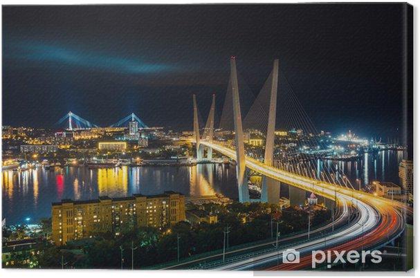 Obraz na płótnie Noc Władywostok - Infrastruktura