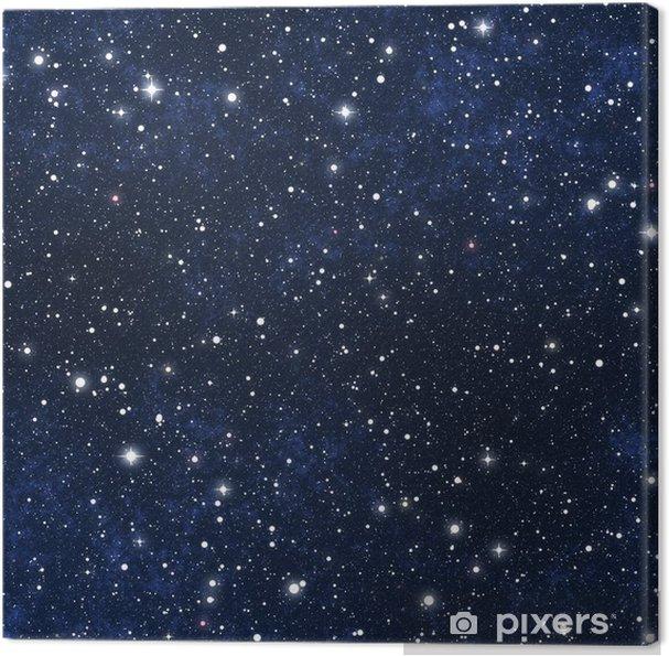 Obraz na płótnie Nocne niebo gwiazdy wypełnione - Wszechświat