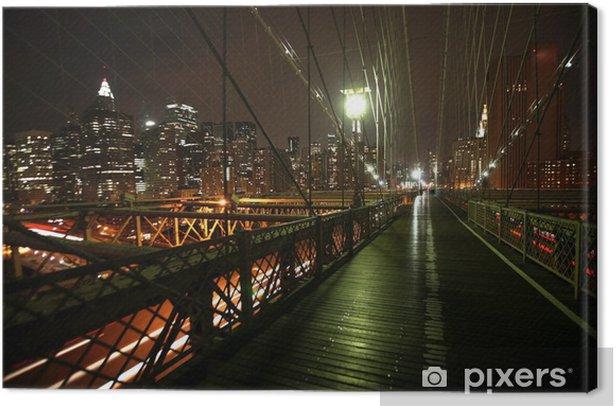 Obraz na płótnie Nocny widok Manhattan i Brooklyn Bridge - Brooklyn Bridge
