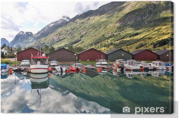Obraz na płótnie Norwegia - Nordfjord w Olden - Pejzaż miejski