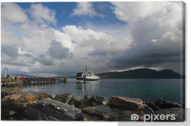 Obraz na płótnie Norweski fiord - Europa