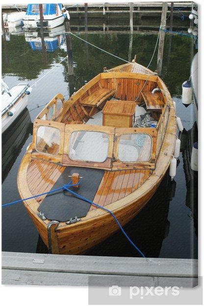 """Obraz na płótnie Norweskiego Wooden Boat """"snekke"""" w portach - Transport wodny"""
