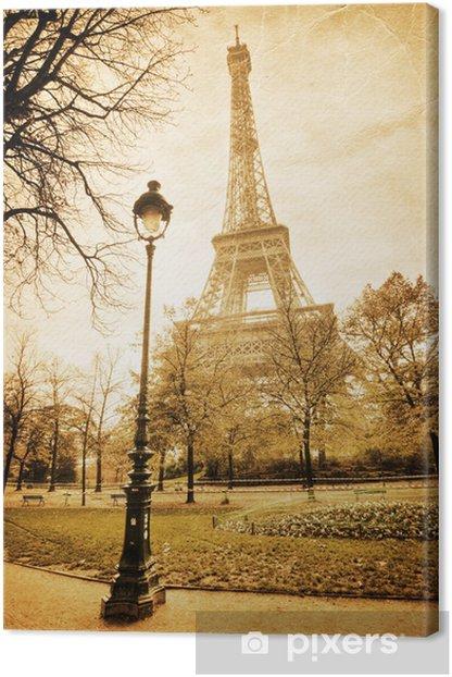 Obraz na płótnie Nostalgiczny widok na Wieżę Eiffla - Tematy