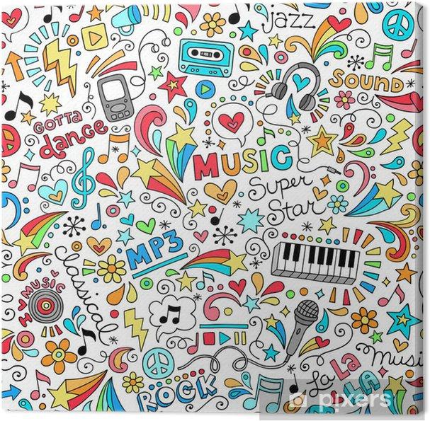 Obraz na płótnie Notebook doodle sm wzór - Hobby i rozrywka