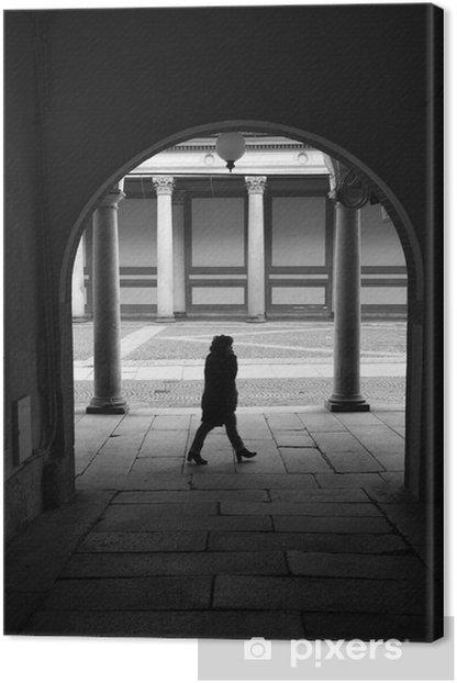 Obraz na płótnie Novara city strzał obraz czarno-biała - Pejzaż miejski