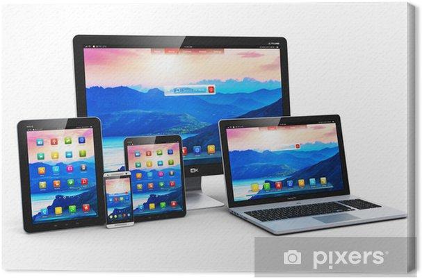 Obraz na płótnie Nowoczesne urządzenia komputerowe - Tablety i e-booki