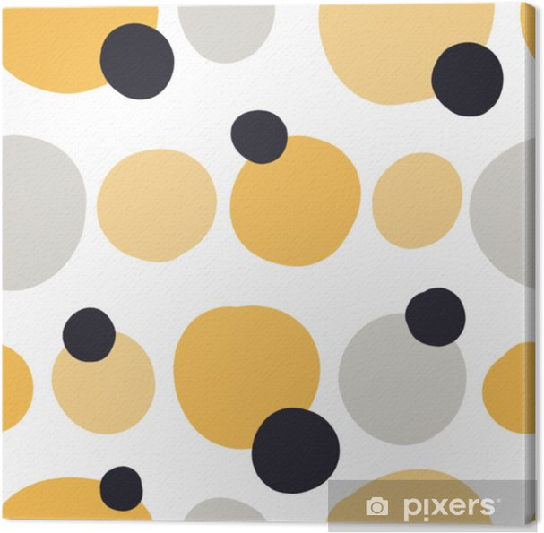 Obraz na płótnie Nowoczesny wzór z abstrakcyjne kształty kolorowe: koła, owale. doodle ręcznie rysowane tekstury. modny kreatywny onfetti tło do druku na nowoczesne i oryginalne tkaniny, papier pakowy - Zasoby graficzne