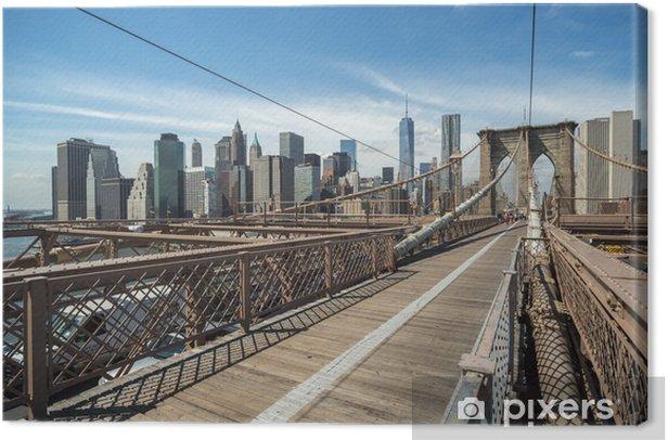 Obraz na płótnie Nowy Jork Brooklyn Bridge i Manhattan budynki - Nowy Jork