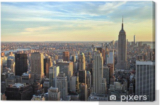 Obraz na płótnie Nowy Jork Midtown z empire state building o zachodzie słońca - Tematy