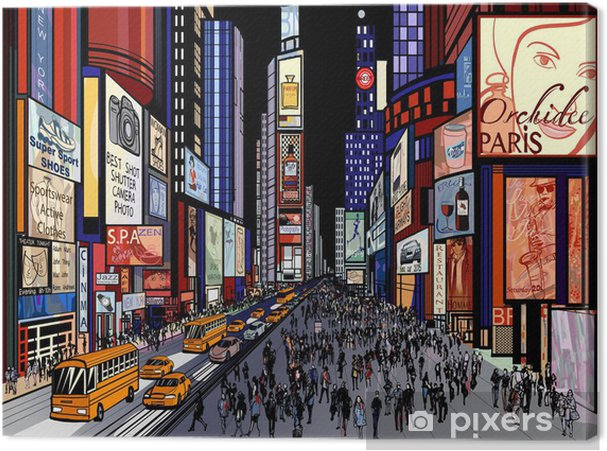 Obraz na płótnie Nowy Jork - nocny widok na Times Square - Tematy