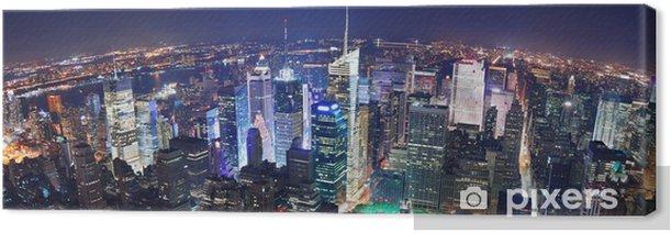 Obraz na płótnie Nowy jork panorama miasta nocą - Ameryka