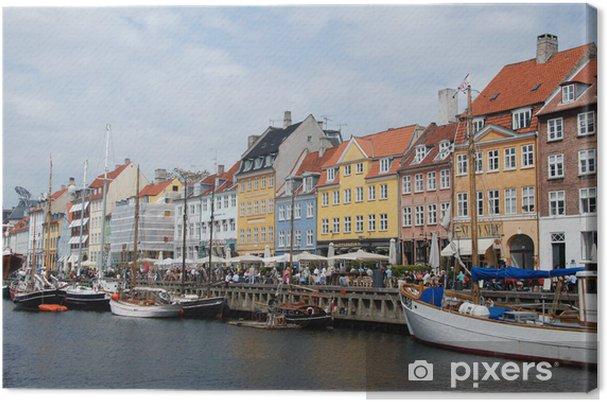 Obraz na płótnie Nyhavn portu w Kopenhadze - Europa