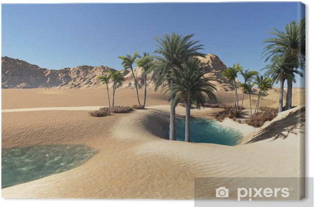 Obraz na płótnie Oaza - Pustynie