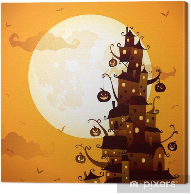 Obraz na płótnie Obchody Halloween w mieście - Święta międzynarodowe