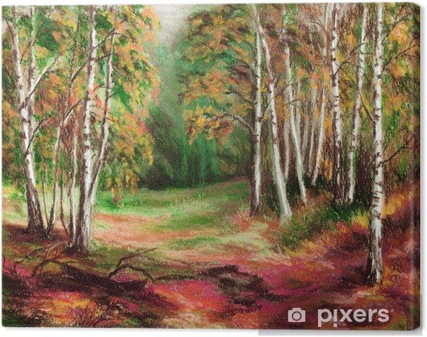 Obraz na płótnie Obraz, las jesienią - Tematy