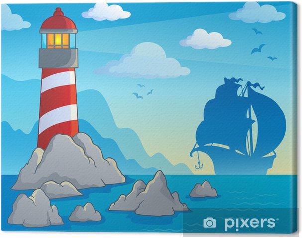 Obraz na płótnie Obraz temat 1 latarnia - Woda
