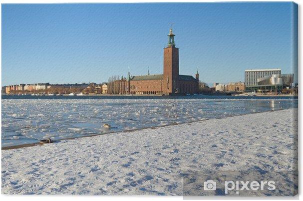 Obraz na płótnie Obraz Winter of Stockholm City Hall. - Europa