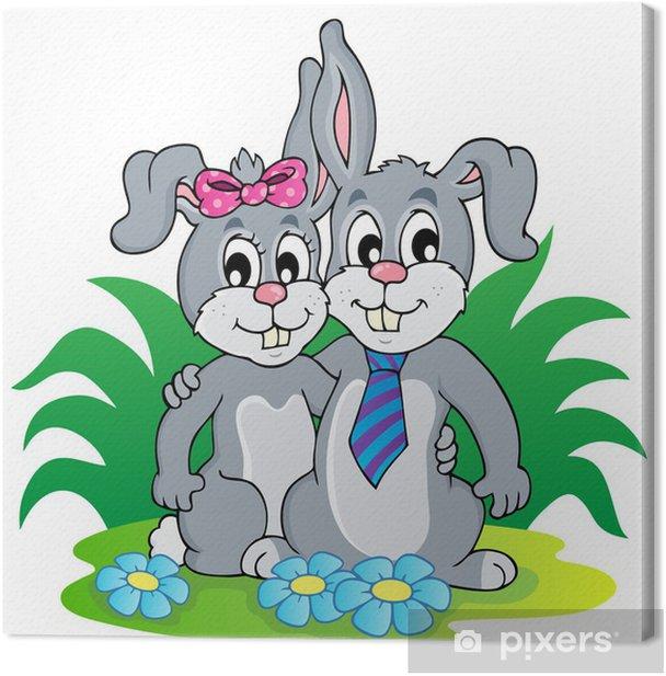 Obraz na płótnie Obraz z motywem królika 4 - Ssaki