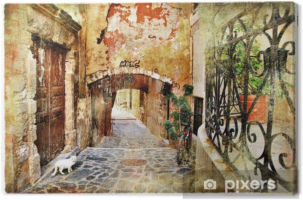 Obraz na płótnie Obrazkowych stare uliczki grecja, kreta - Tematy
