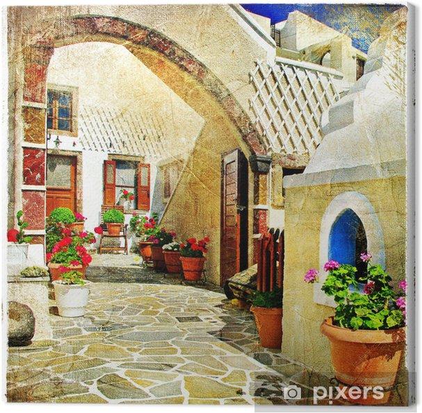 Obraz na płótnie Obrazkowych ulice Santorini - Tematy