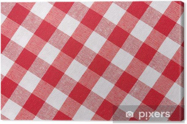 Obraz na płótnie Obrus przekątnej czerwone i białe tło tekstury - Tekstury