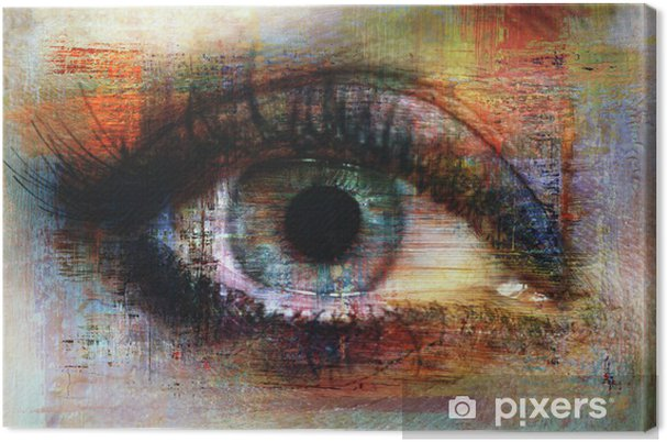 Obraz na płótnie Oczy tekstury -