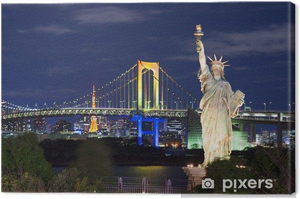 Obraz na płótnie Odaiba, Tokio Skyline - Miasta azjatyckie