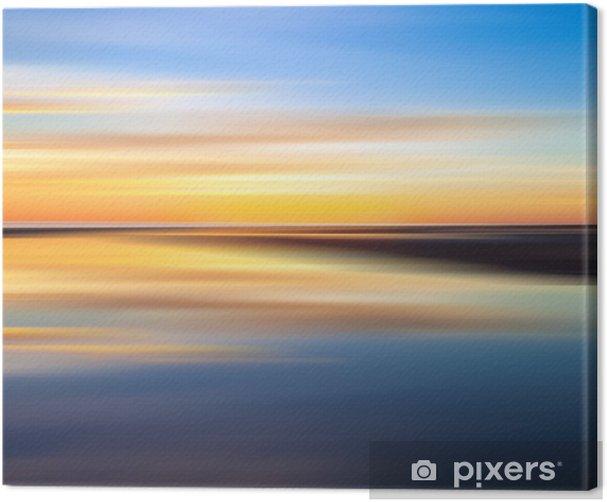 Obraz na płótnie Odbicie kolorowe słońca z długim efekt ekspozycji - Niebo