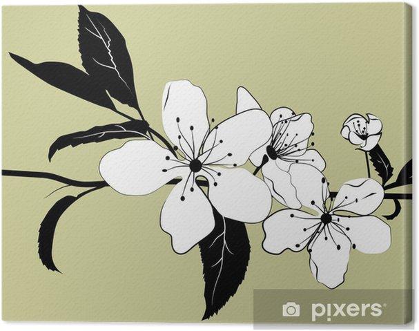 Obraz na płótnie Oddział Kwitnienie wiśni - Drzewa