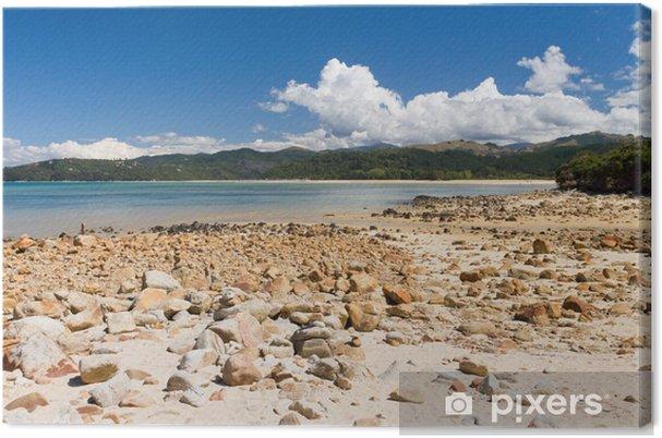 Obraz na płótnie Odpływu na skałach - Oceania