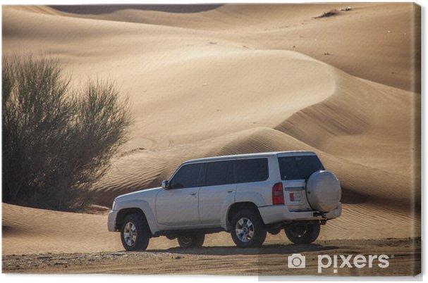 Obraz na płótnie Off-road na pustyni w Dubaju - Bliski Wschód