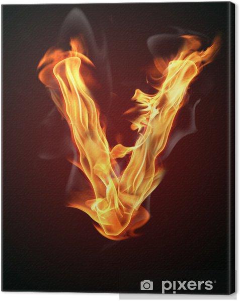 """Obraz na płótnie Ogień literę """"V"""" - Tekstury"""