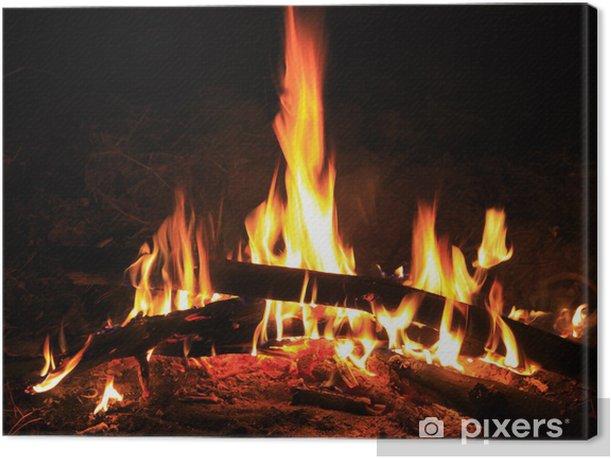 Obraz na płótnie Ogień - Tekstury