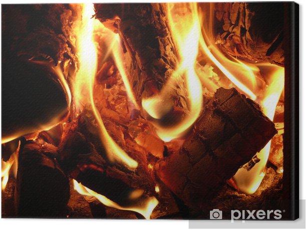 Obraz na płótnie Ogień - Drzewa