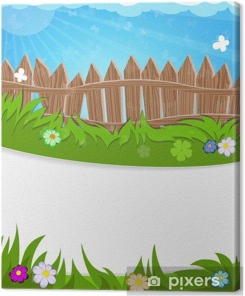 Obraz na płótnie Ogrodzenia na zielonej łące - Pory roku