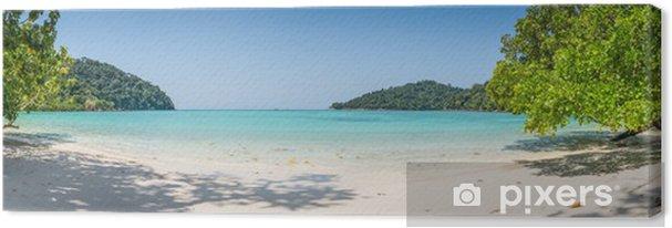 Obraz na płótnie Ogromna panorama dzikie tropikalnych plaży. turuoise morskich morze w Surin - Tematy
