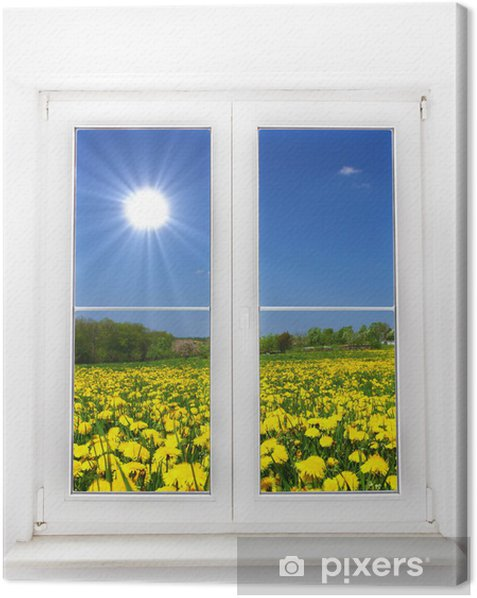 Obraz na płótnie Okno Wiosny - Tematy