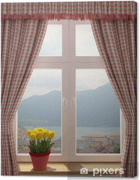 Obraz na płótnie Okno z pięknym widokiem - iStaging