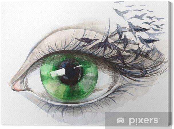 Obraz na płótnie Oko z ptakami (seria C) - Style