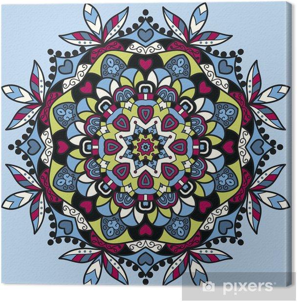 Obraz na płótnie Okrągły wzór kwiatów ozdobnych tle - Tła