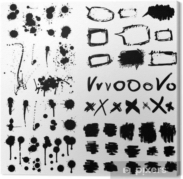 Obraz na płótnie Okruchy z atramentem. Grunge projektowania elementów kolekcji. - Sztuka i twórczość