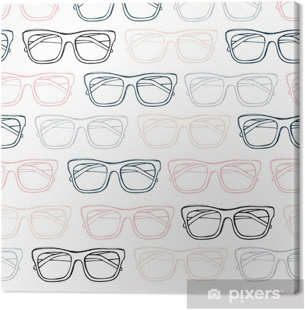 Obraz na płótnie Okulary wzór, ręcznie rysowane wektor. szkic ilustracji. - Styl życia