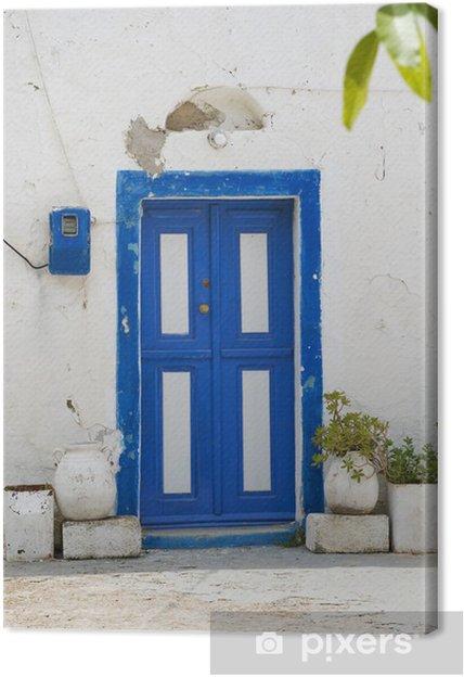 Obraz na płótnie Old Greek Drewniane drzwi Kos Island Greece - Europa