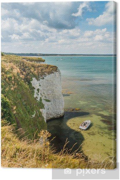 Obraz na płótnie Old Harry Rocks Klify w Dorset - Jurrasic wybrzeża kreda FORMACJE - Krajobraz wiejski