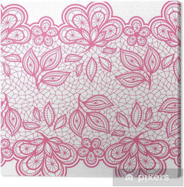 Obraz na płótnie Old lace szwu, kwiatów ozdobnych. Tekstury Vector. - Koncepcje biznesowe