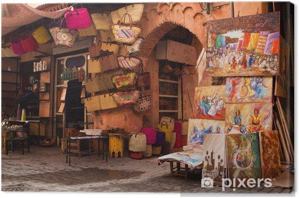 Obraz na płótnie Old medina street art shop, Marrakesz, Maroko - Afryka