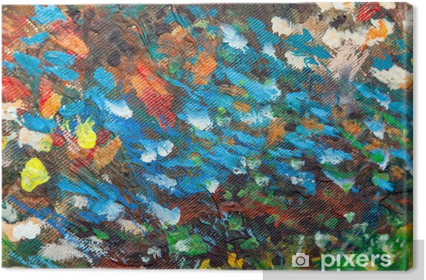 Obraz na płótnie Olej malowane tła III - Sztuka i twórczość