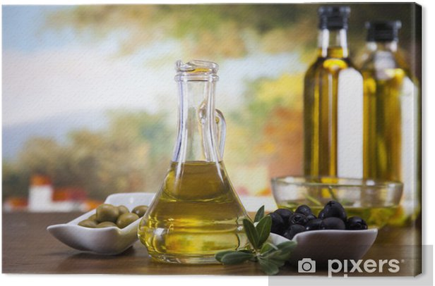 Obraz na płótnie Oliwa z oliwek i oliwki - Oliwki