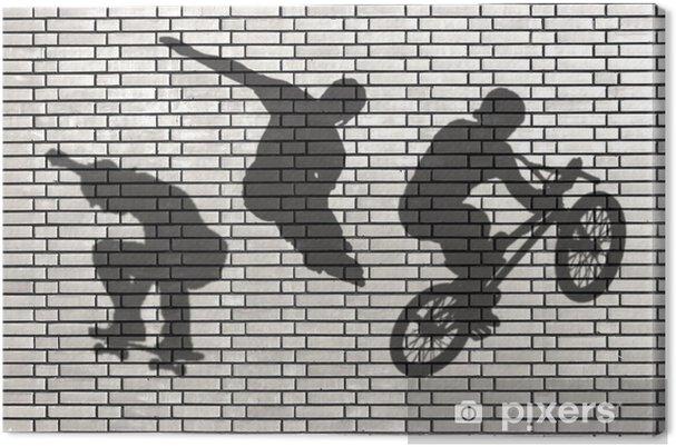 Obraz na płótnie Ombres Skateboard, Walec, BMX, - Skateboarding