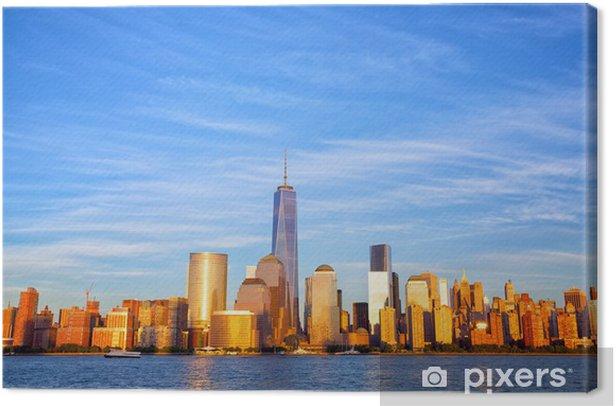 Obraz na płótnie One World Trade Center i Manhattan Skyline o zachodzie słońca, New York - Tematy